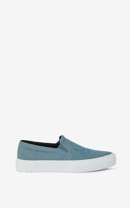 GLACIER K-Skate Tiger laceless canvas sneakers KENZO
