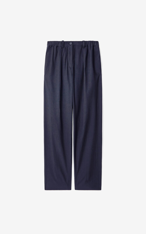 NAVY BLUE Trousers for unisex KENZO