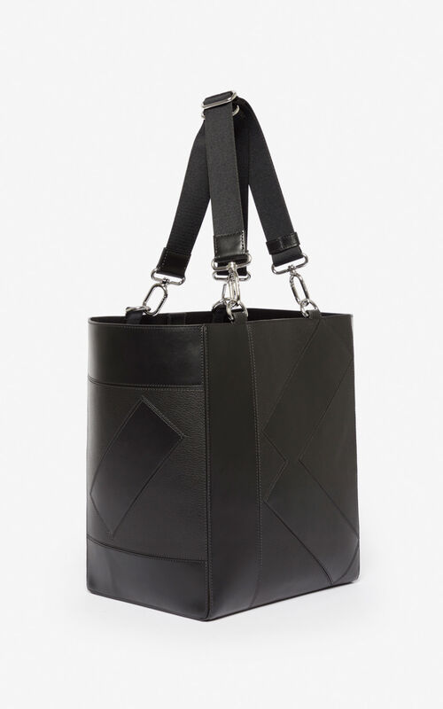 BLACK Kube Tote Bag for unisex KENZO