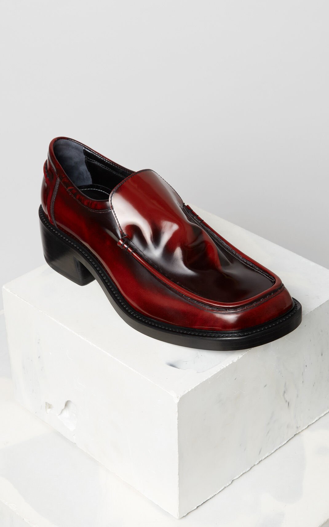 BORDEAUX Patent loafers for men KENZO