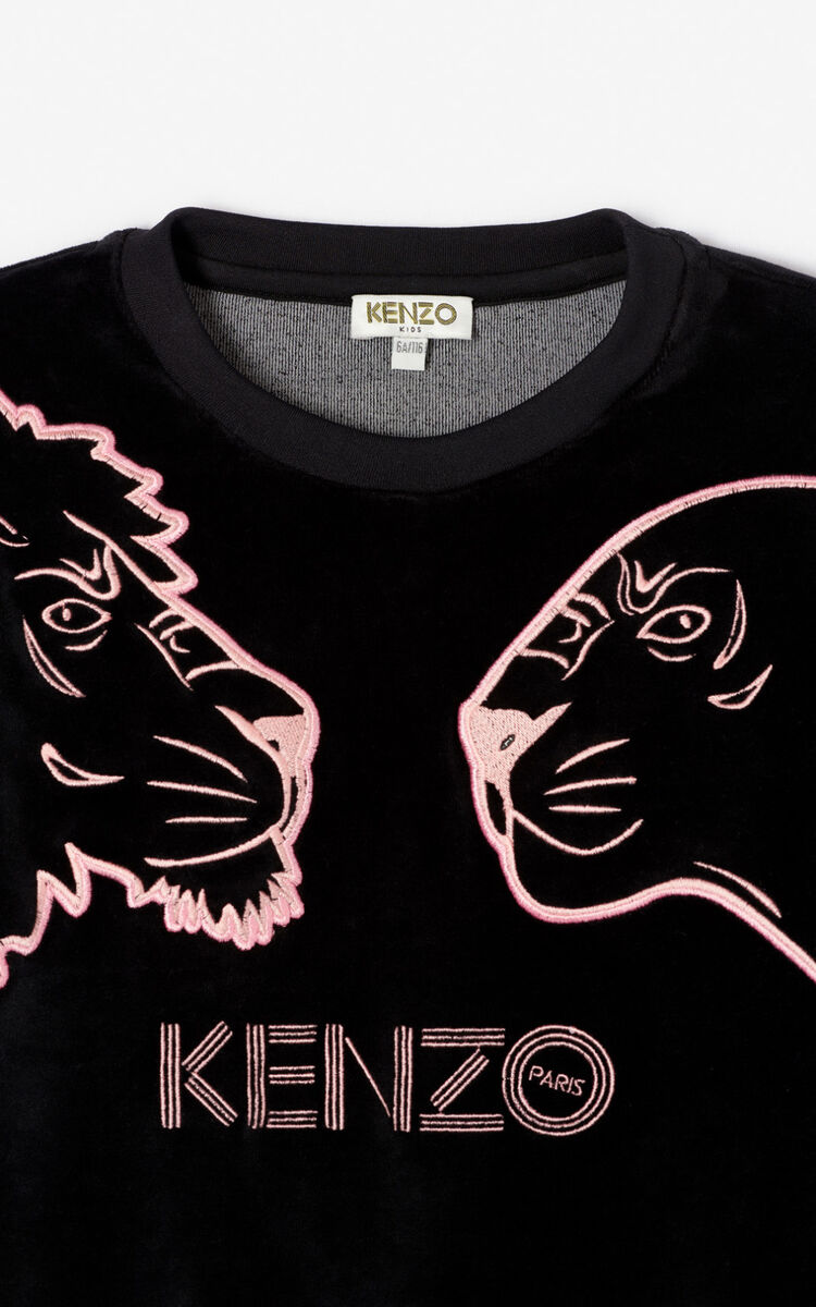 NAVY BLUE 'Crazy Jungle' sweatshirt for women KENZO