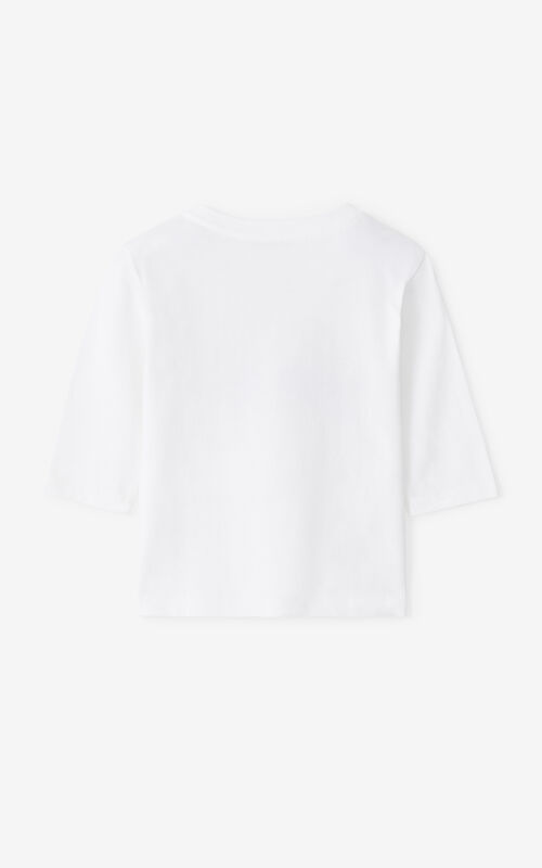 WHITE KENZO 'Ventura' long-sleeved T-shirt for women