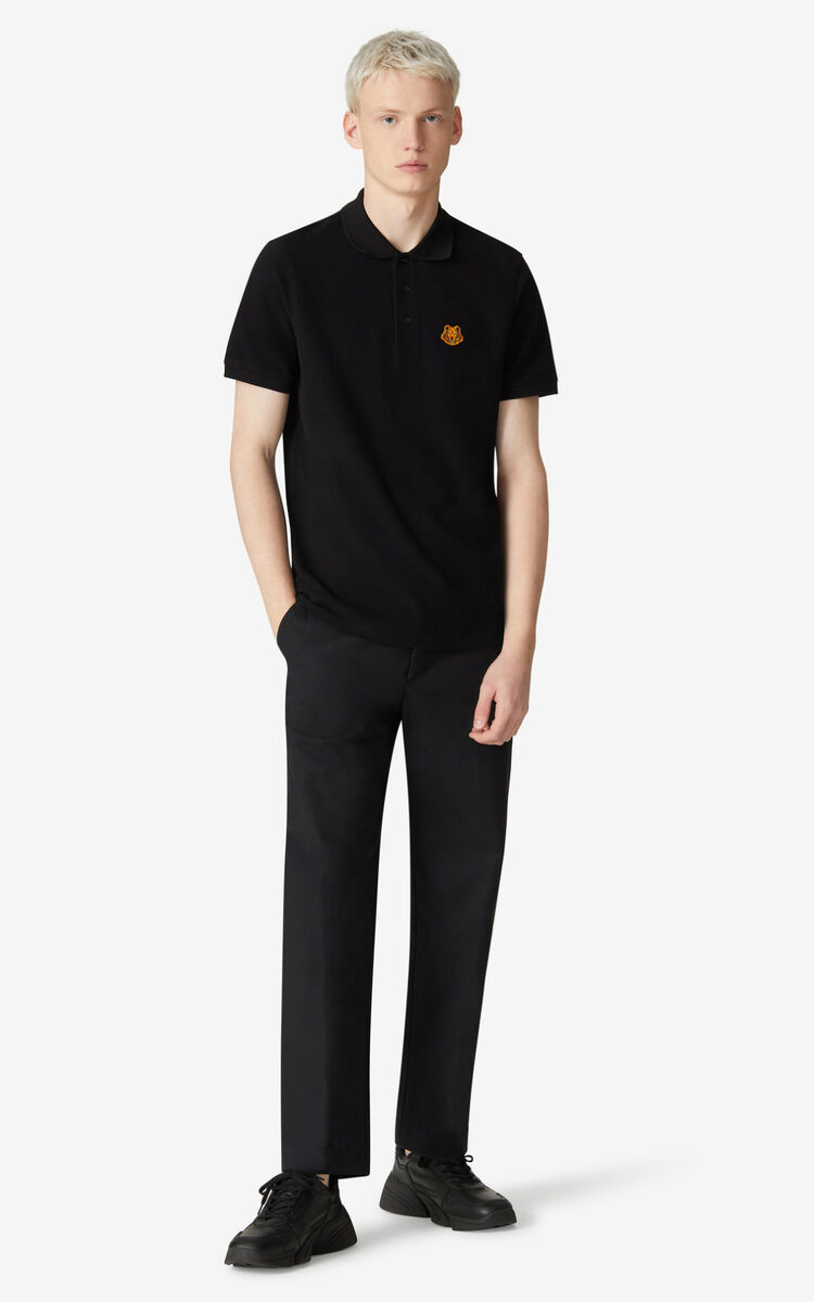 BLACK Cropped trousers for men KENZO