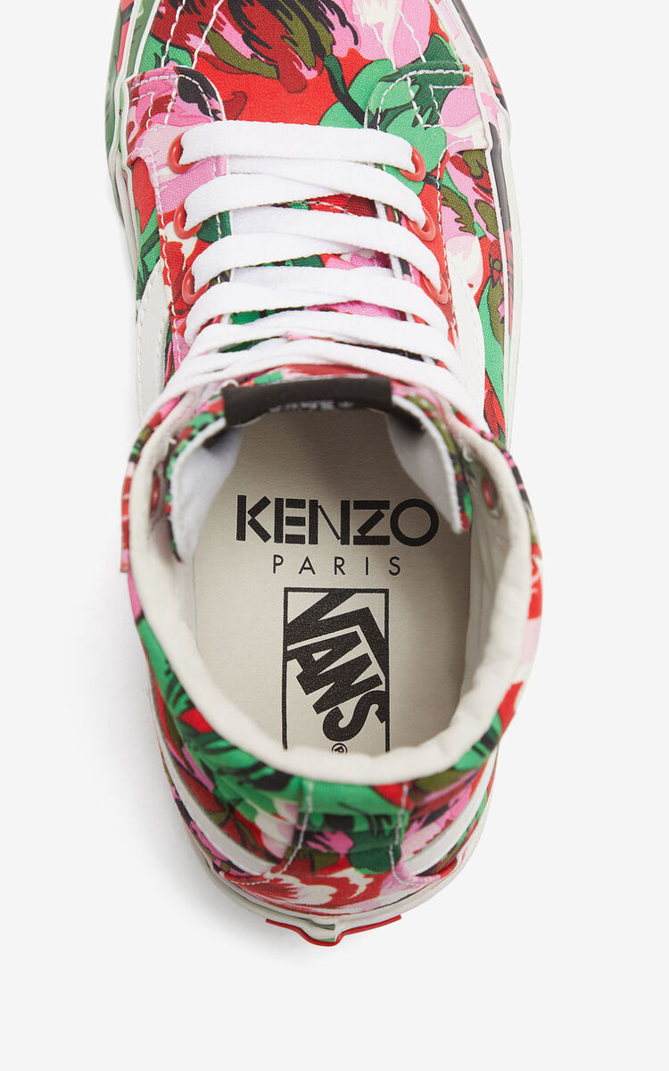 MEDIUM RED SK8-Hi 'Tulipes' KENZO/VANS sneakers  for unisex
