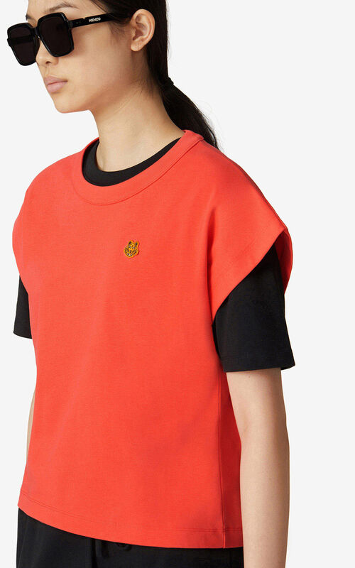 POPPY Tiger Crest boxy T-shirt    for women KENZO