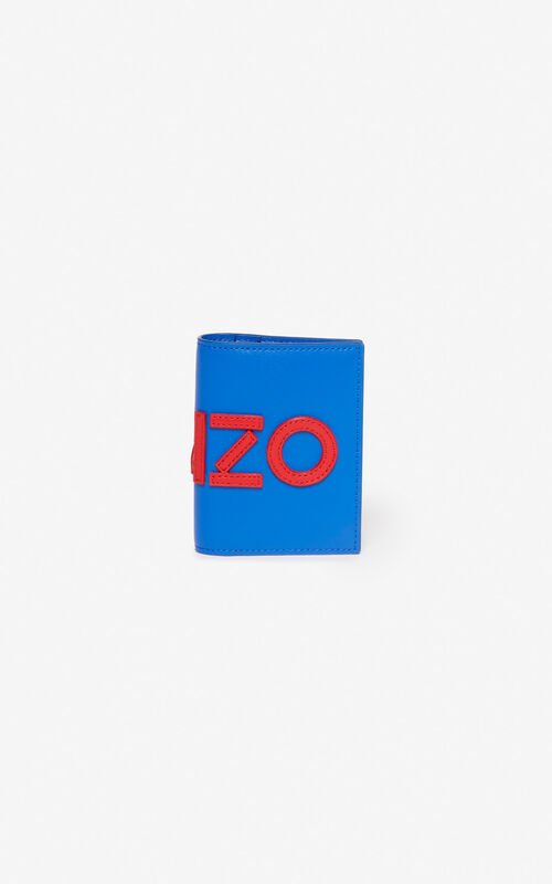 COBALT KENZO colorblock leather cardholder for unisex