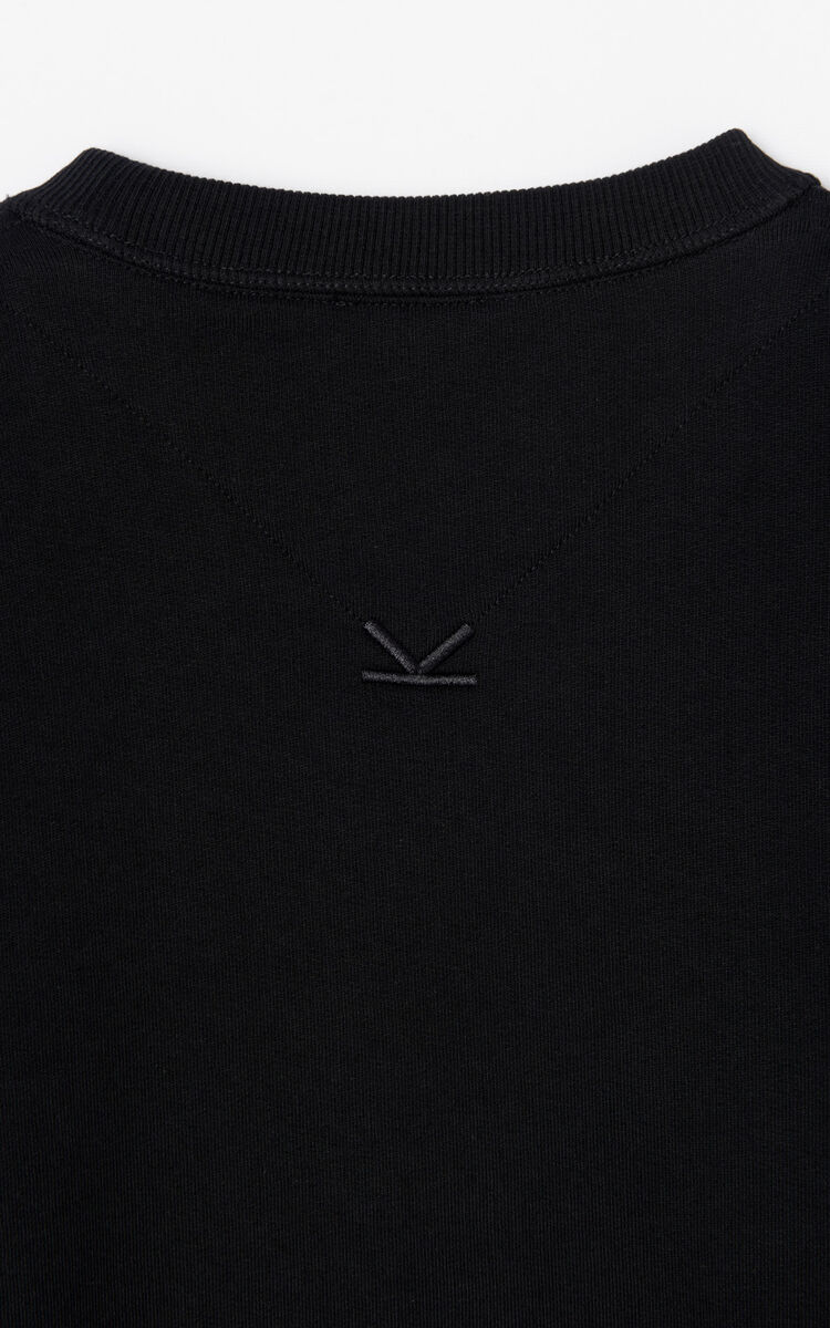 BLACK 'Holiday Capsule Collection' embroidered KENZO Paris sweatshirt for men