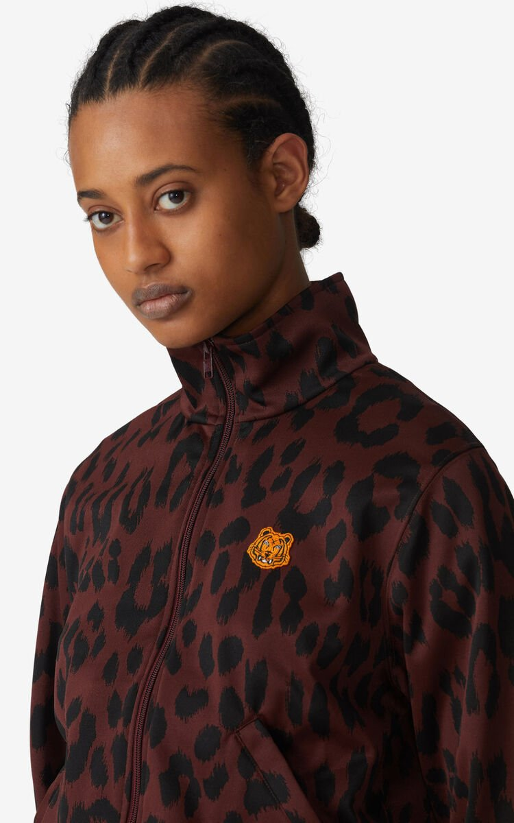 BORDEAUX 'Leopard' zipped jacket for unisex KENZO