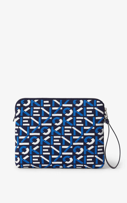 MIDNIGHT BLUE Skuba clutch made of recycled material for women KENZO