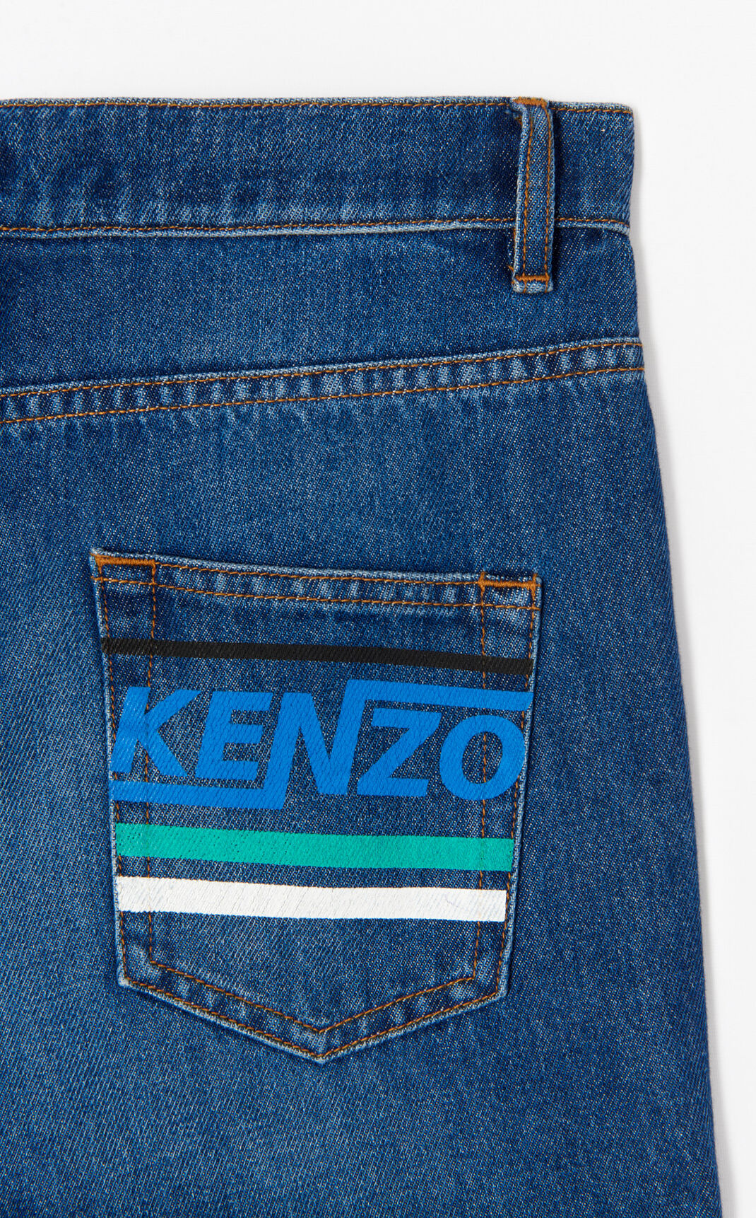 NAVY BLUE 'Hyper KENZO' straight leg jean for women
