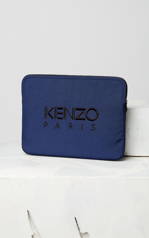 NAVY BLUE Tiger laptop sleeve for men KENZO