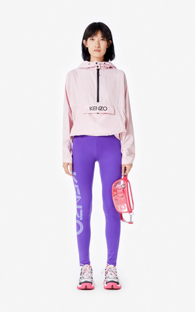 FADED PINK KENZO Logo windbreaker for women