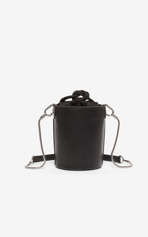 BLACK Kontact Eye mini hobo bag for unisex KENZO