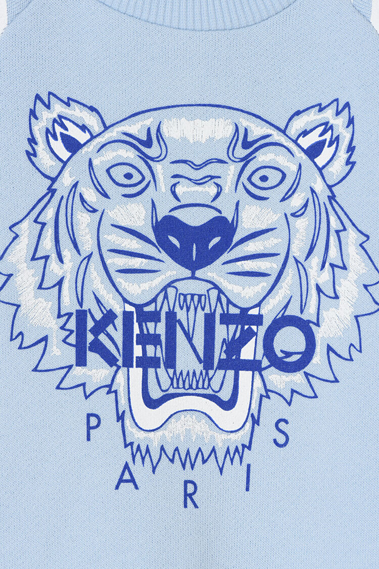 SKY BLUE Tiger Stripes Babygrow for men KENZO