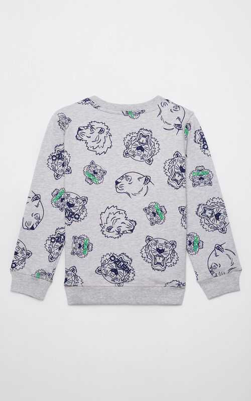 MIDDLE GREY Multi-icon sweatshirt for women KENZO
