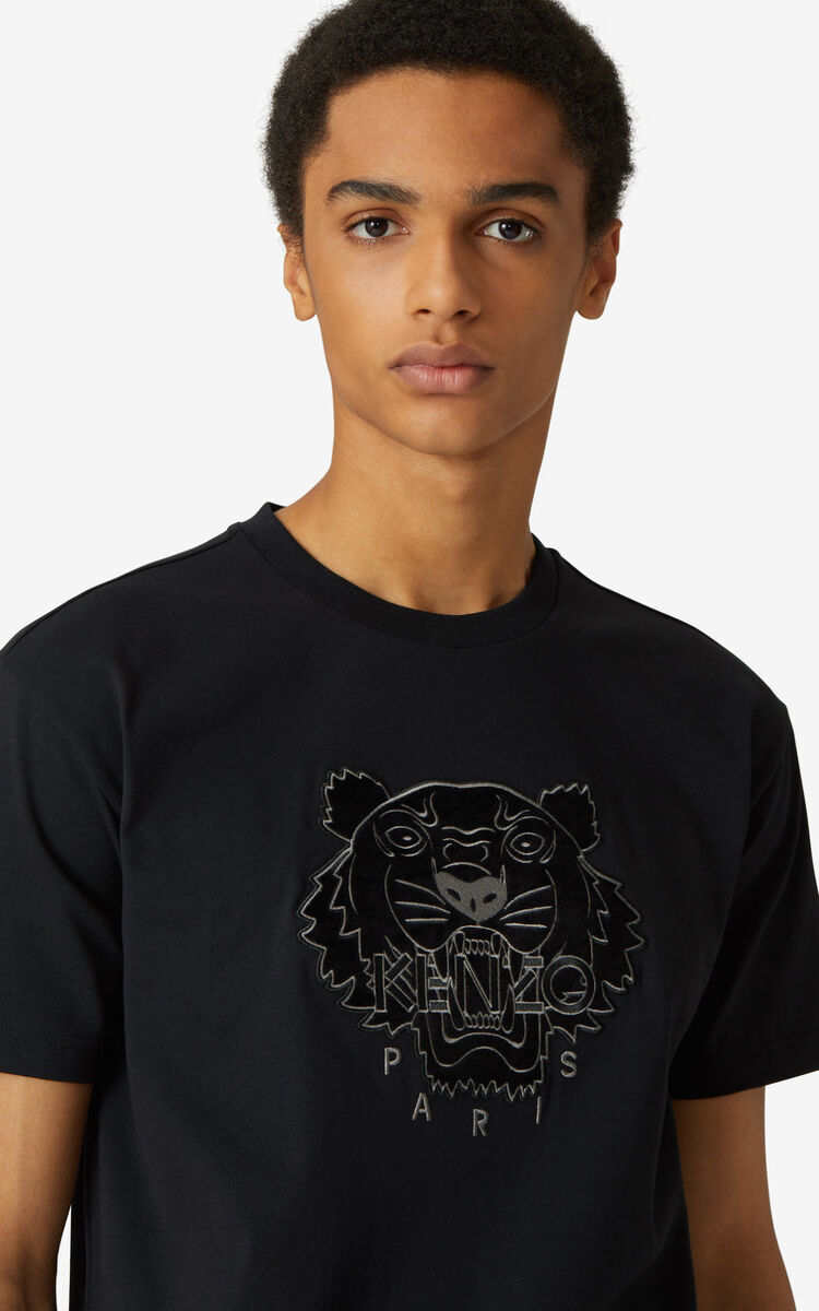 BLACK Tiger loose-fitting T-shirt for men KENZO