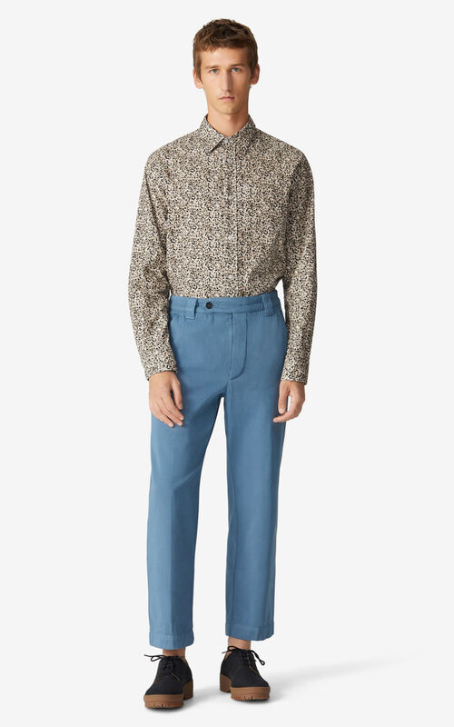 BLUE Cropped trousers for men KENZO