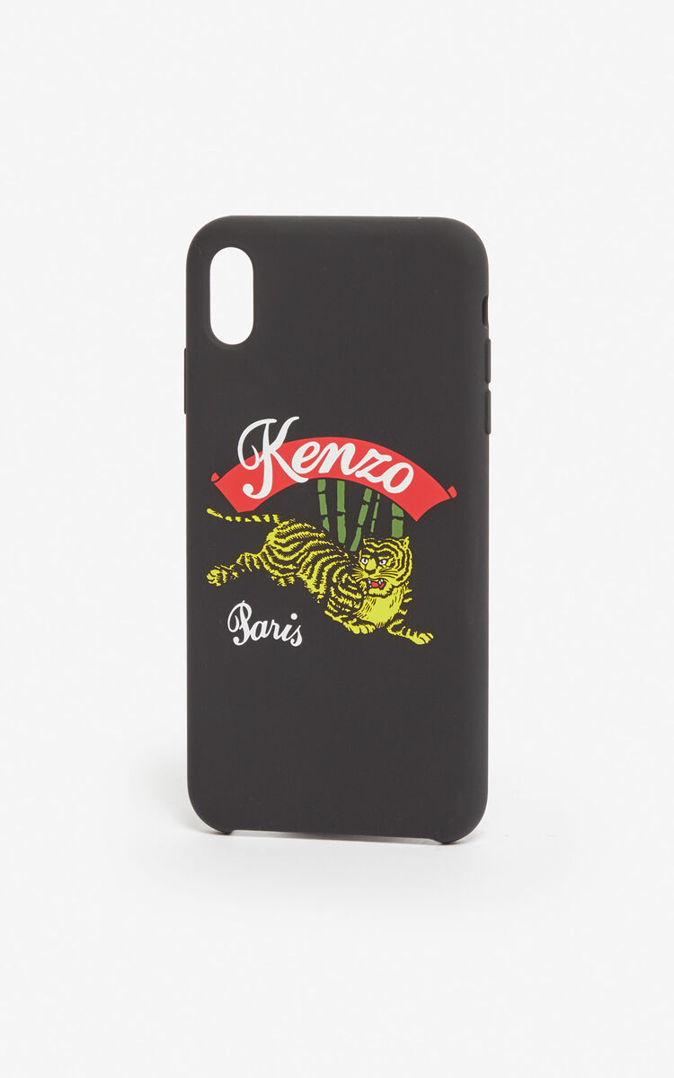 BLACK iPhone XS Max 'Jumping Tiger' case for unisex KENZO