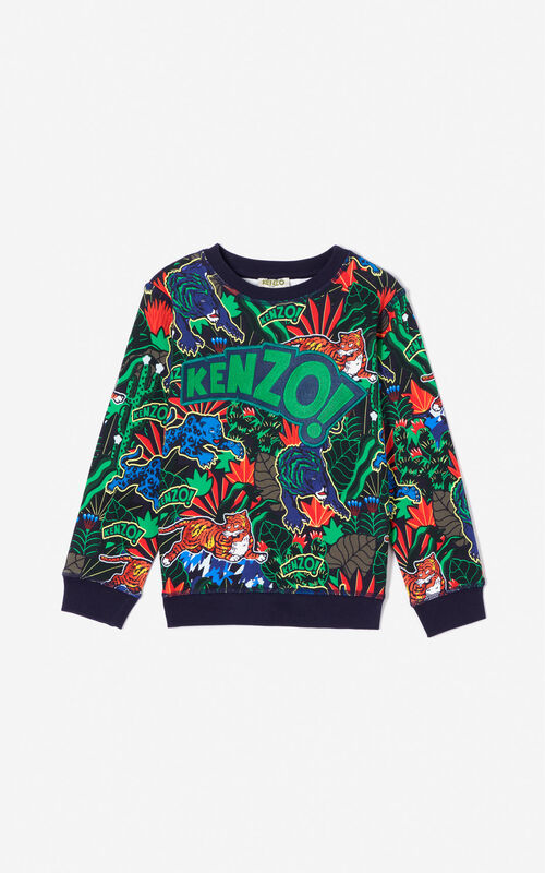 NAVY BLUE 'Fantastic Jungle' sweatshirt for women KENZO