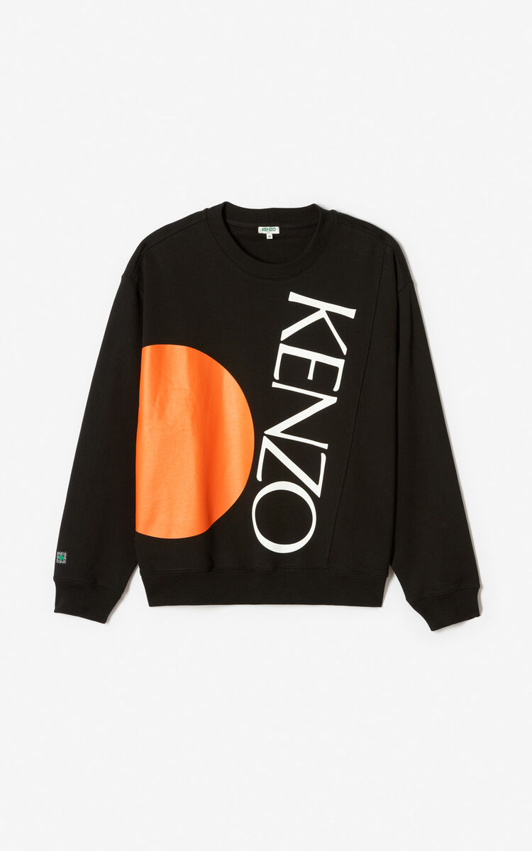 BLACK Colorblock sweatshirt for women KENZO
