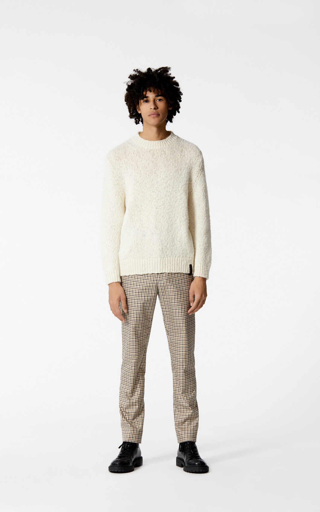 OFF WHITE Wool and mohair jumper for men KENZO