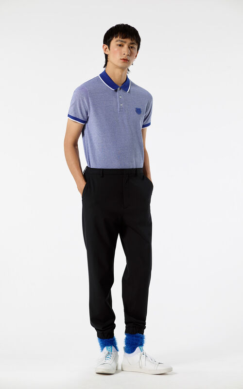 ROYAL BLUE Tiger polo shirt for men KENZO