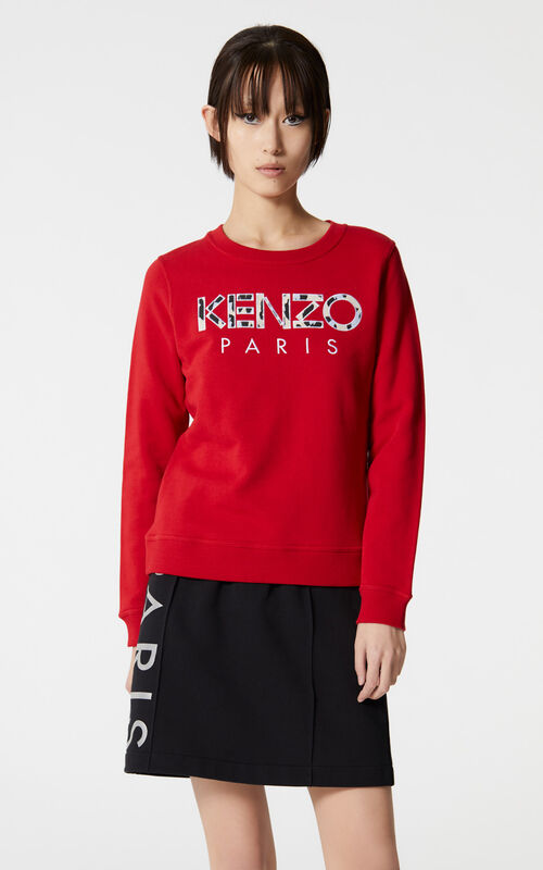 MEDIUM RED KENZO Paris sweatshirt for women