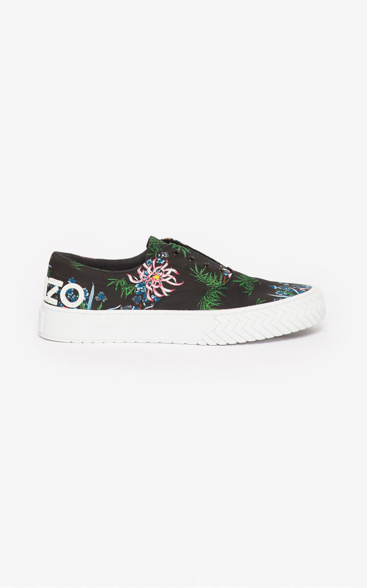 BLACK 'Sea Lily' K-Skate sneakers for unisex KENZO