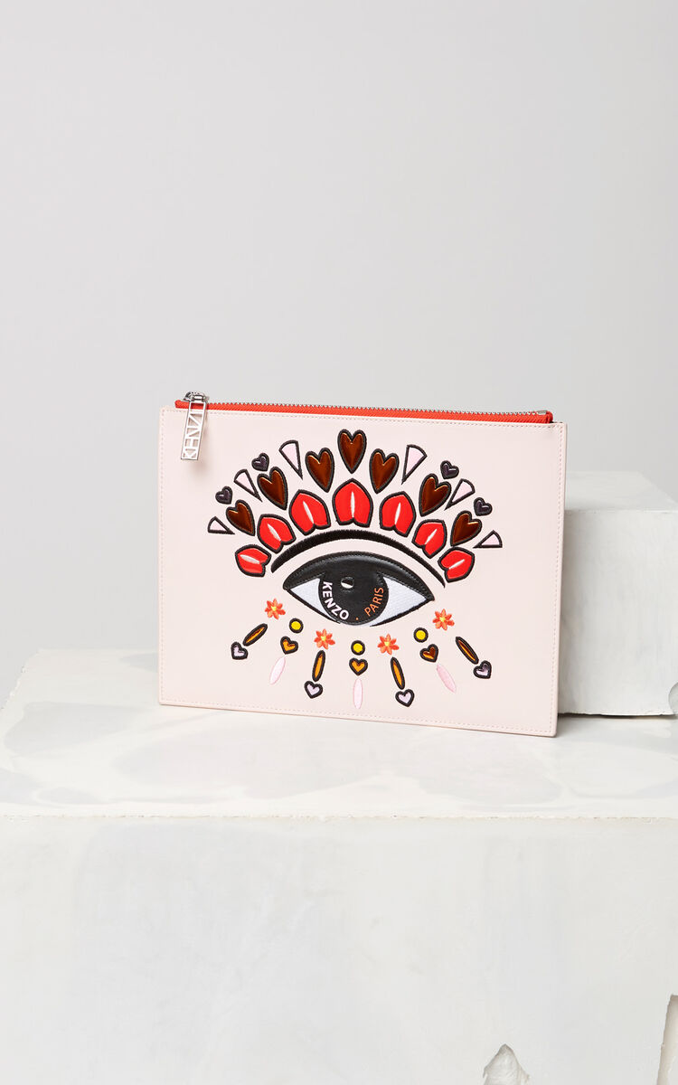 FADED PINK A4 Eye clutch for unisex KENZO