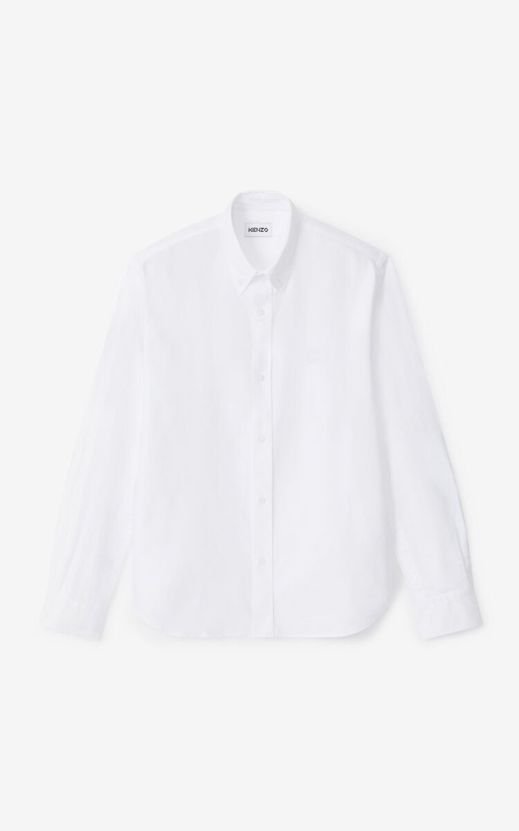 WHITE Tiger Crest casual shirt for women KENZO