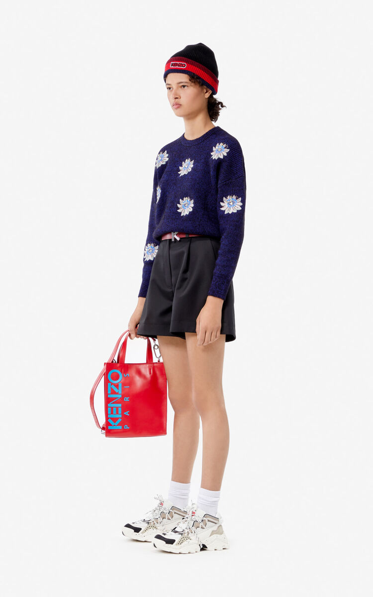 BLACK 'Passion Flower' jumper for women KENZO