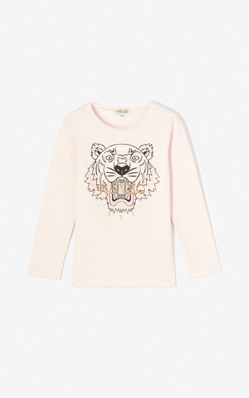 FADED PINK Tiger t-shirt KENZO