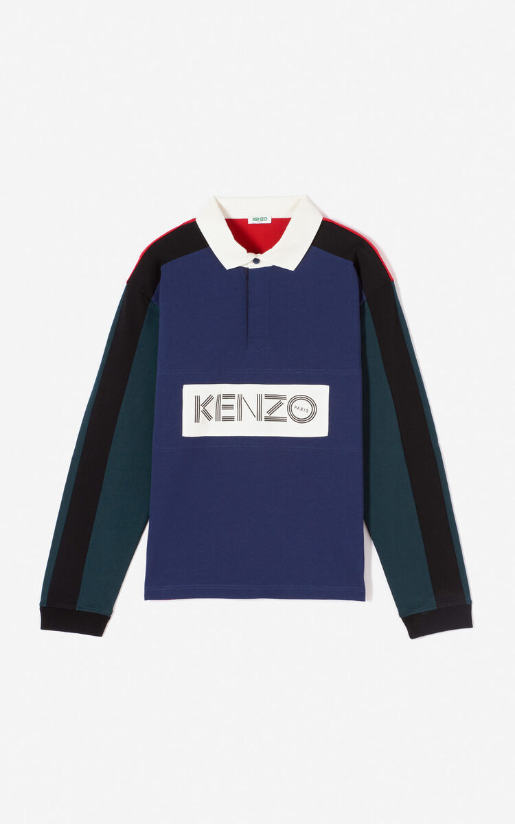 INK KENZO colorblock polo shirt for men