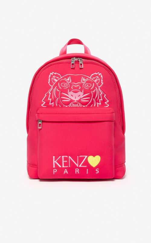 DEEP FUSCHIA Large Tiger backpack 'Capsule Back from Holidays' for unisex KENZO