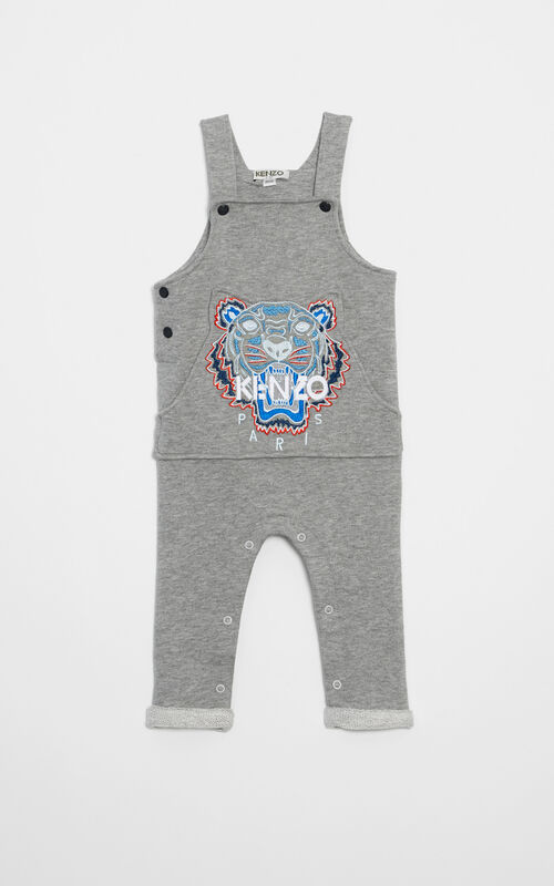 Tiger dungarees , MIDDLE GREY, KENZO