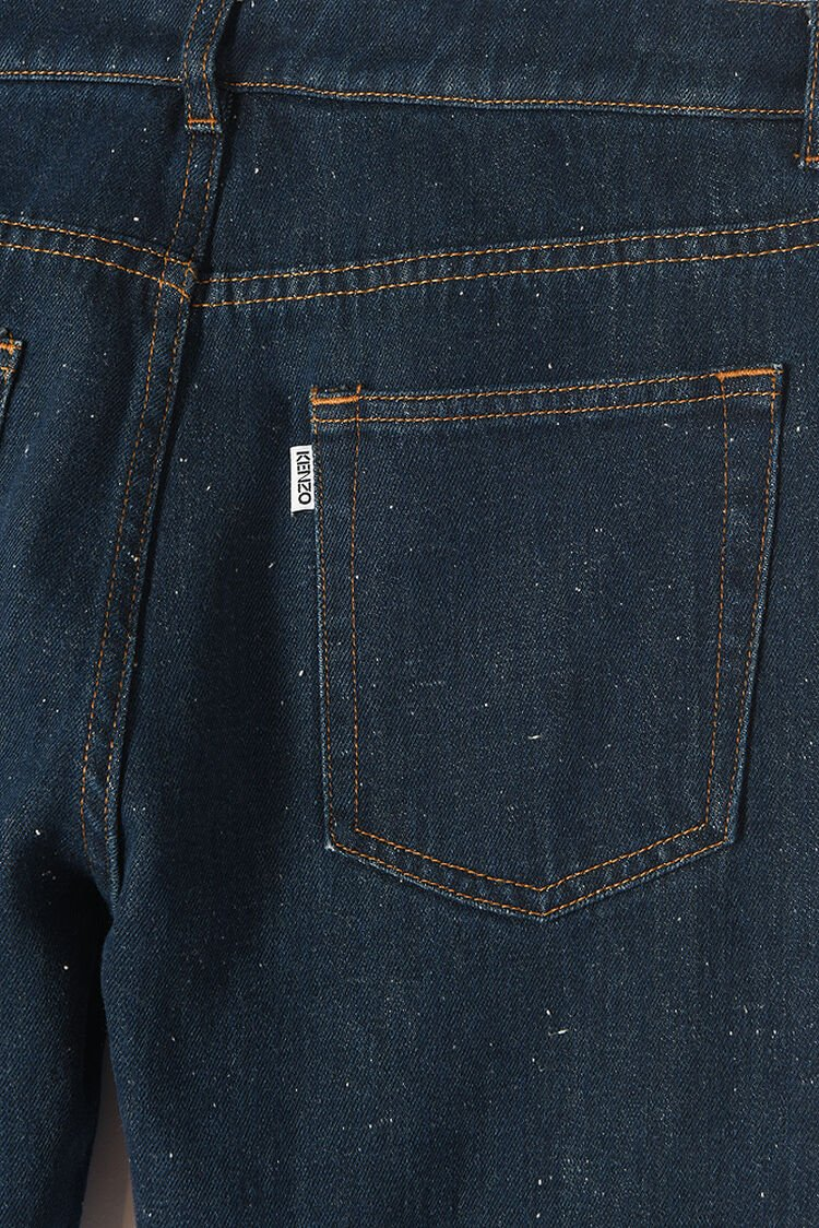 NAVY BLUE Speckled Tapered Jeans for men KENZO