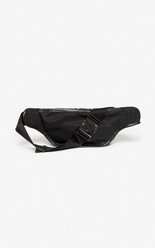 BLACK KENZO Logo banana bag for men