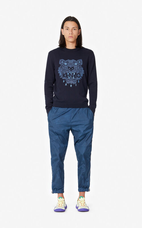 MIDNIGHT BLUE Tiger jumper for men KENZO