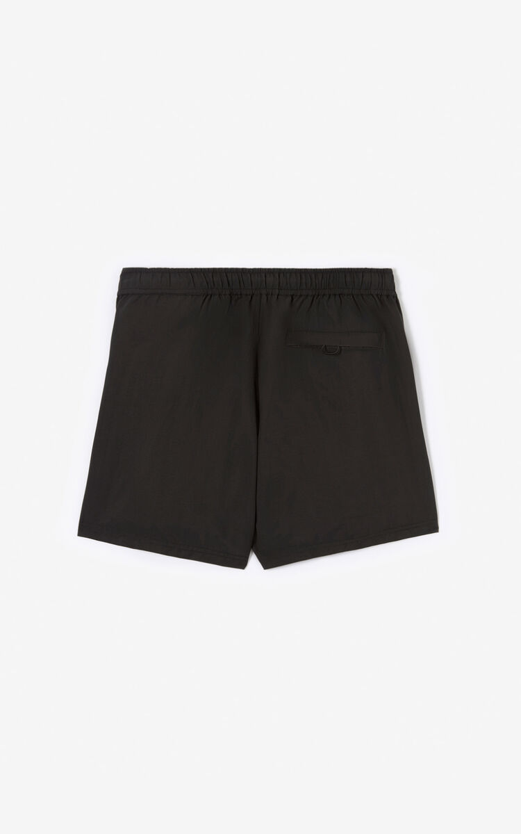 BLACK KENZO Logo swim shorts for global.none