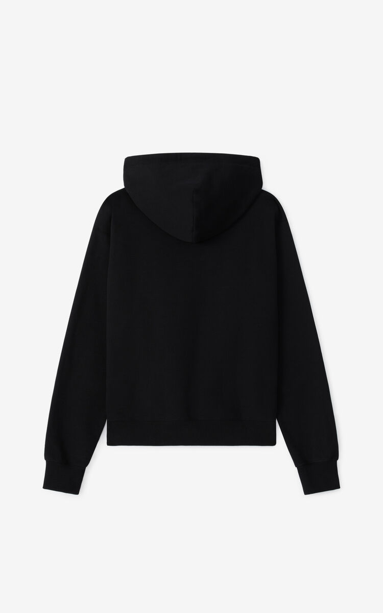 BLACK K-Tiger hooded sweatshirt for men KENZO