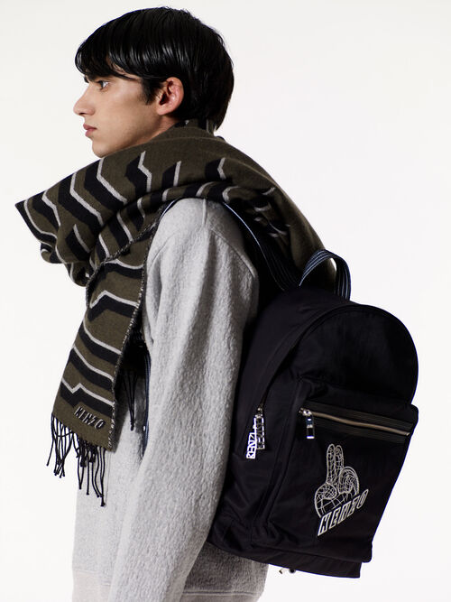 BLACK Peace World backpack  for men KENZO