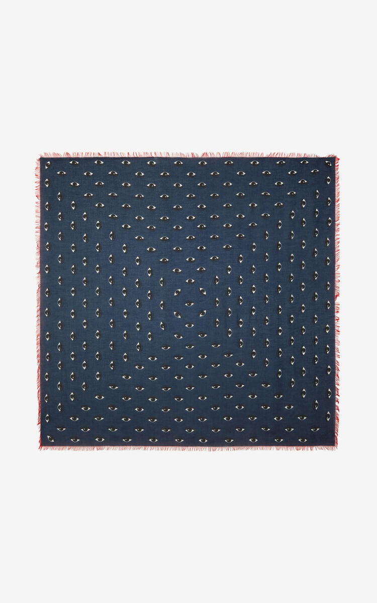 DUCK BLUE Large Multi Eyes square for women KENZO