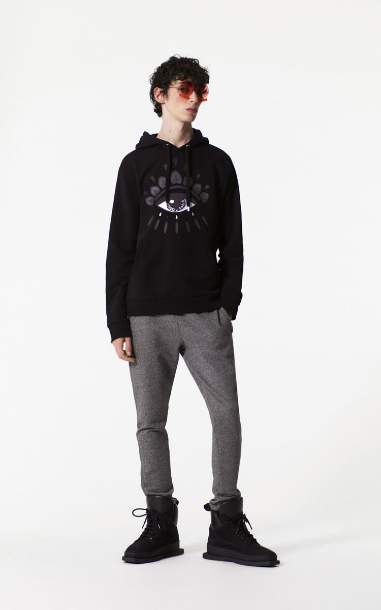 BLACK Eye Hoodie for men KENZO