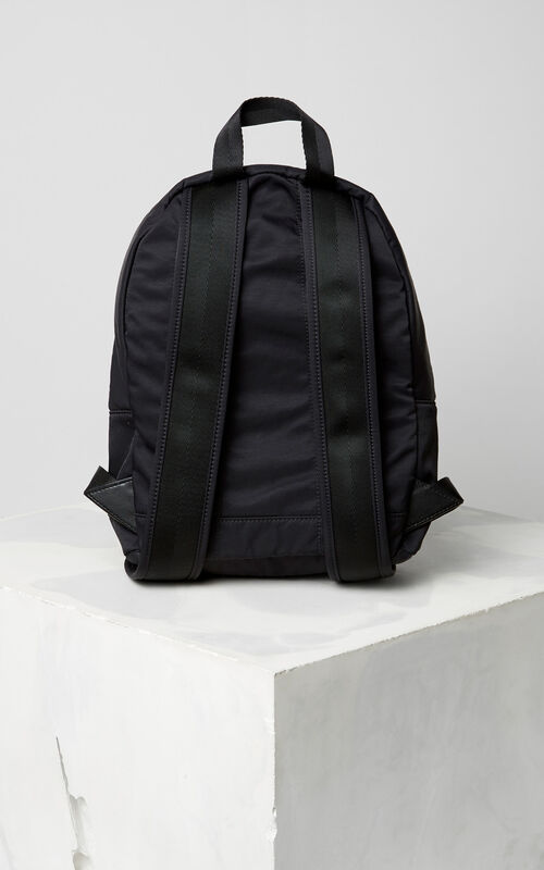 BLACK Large KENZO Signature Backpack for men