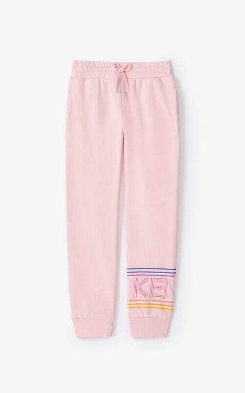 FLAMINGO PINK KENZO Sport jogging trousers for unisex