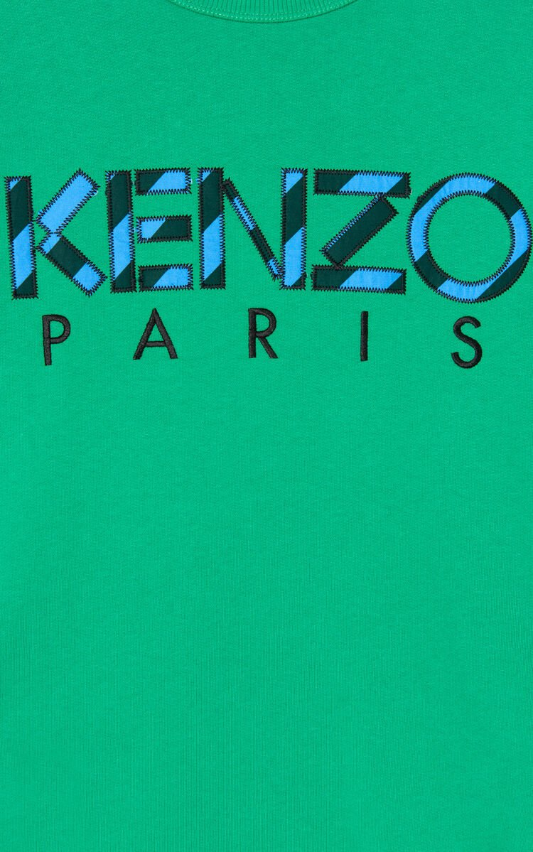 GRASS GREEN KENZO Paris sweatshirts for men