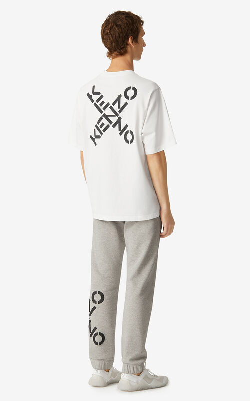 WHITE Oversized KENZO Sport 'Triple X' t-shirt for women