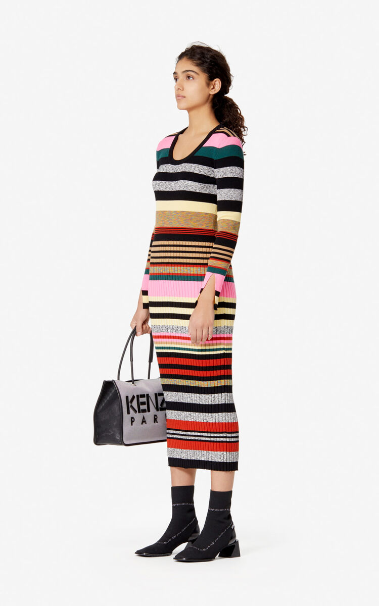 MULTICOLOR Striped dress for women KENZO