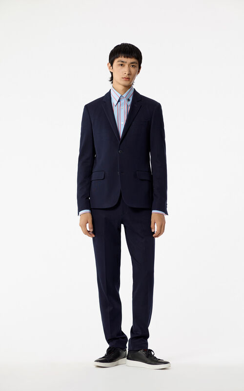 NAVY BLUE Slim-fit trousers for women KENZO