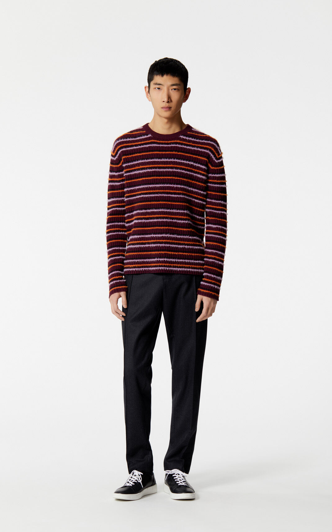 BORDEAUX Jumper with multicoloured stripes for women KENZO